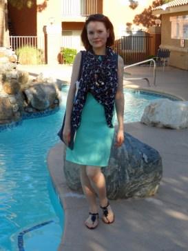 Casual colorblock dress 2