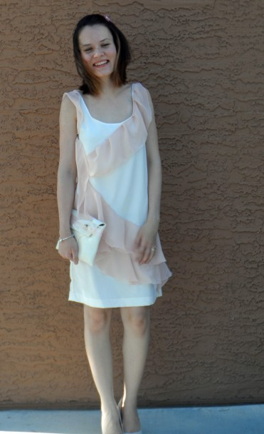 Pink ruffle dress 5