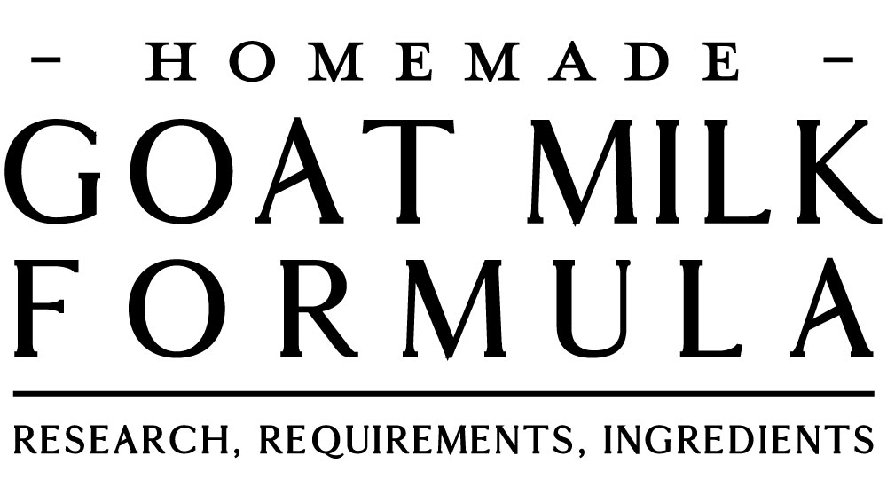 goat milk formula recipe