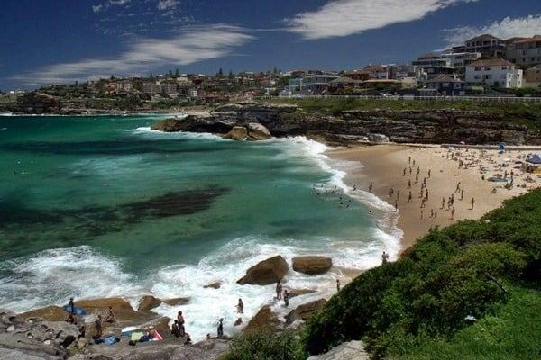 Beach on bondi to bronte walk