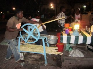 Dining at the Night Market in Zanzibar