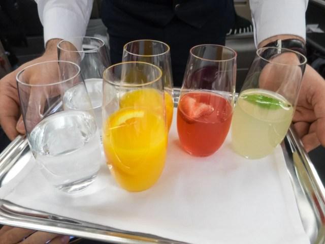 Pre-flight juice choice