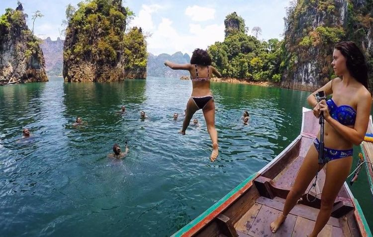 Swimming in Thailand