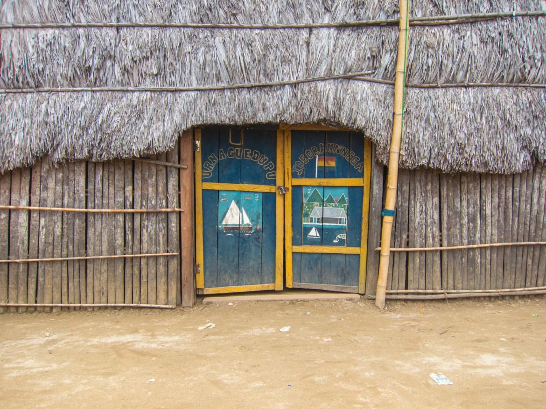Painted doors in an indigenous village
