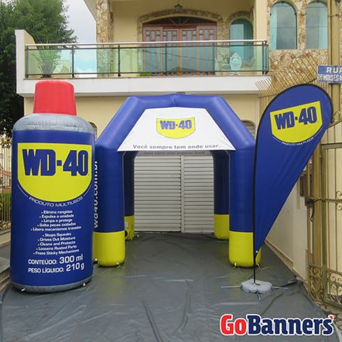 Foto Wind Banner 4m e Tenda 3x3 - WD-40