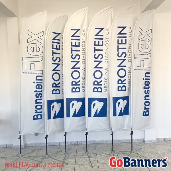 Wind FLAG com 3 metros frente e verso - BRONSTEIN Medicina Diagnóstica