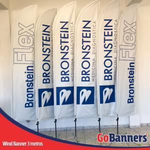 Wind Banner FLAG com 3 metros - BRONSTEIN