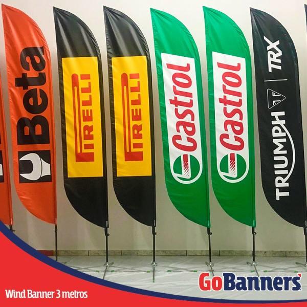 Wind Banner PENA com 3 metros - Beta Pirelli Castrol Triumph