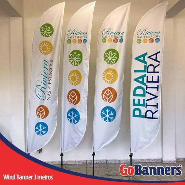 Wind Banner PENA com 3 metros - PEDALA RIVIERA