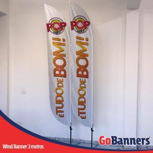 Wind Banner PENA com 3 metros - POP FM 89,7