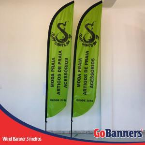 Wind Banner PENA com 3 metros - SURF UBATUBA