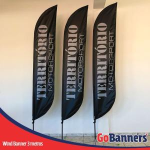 Wind Banner PENA com 3 metros - TERRITÓRIO MOTORSPORT