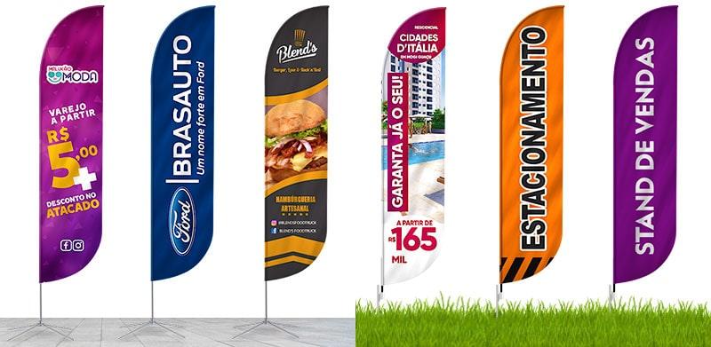 Wind Banner Promocional - Estacionamento e Stand de Vendas