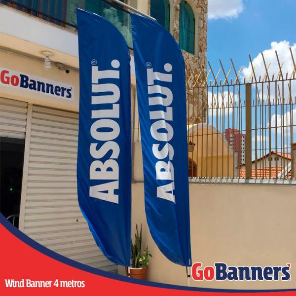 wind flag banner com 4 metros absolut