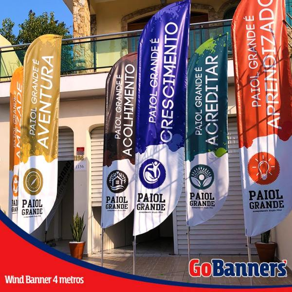 wind flag banner com 4 metros hotel fazenda paiol grande