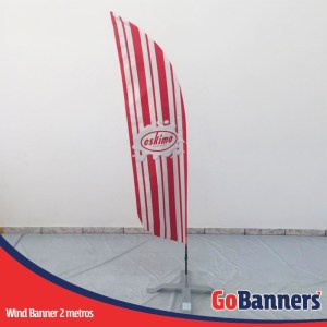 wind flag banner com 2 metros eskimo