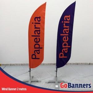 wind flag banner com 2 metros papelaria