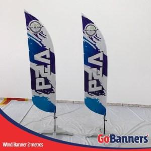 wind flag banner com 2 metros pedal dos amigos