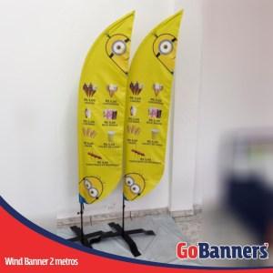 wind flag banner com 2 metros sorvetes