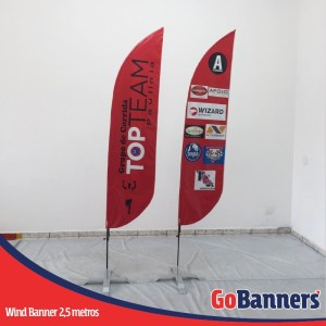 wind flag banner com 2,5 metros grupo de corrida