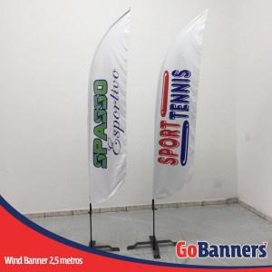 wind flag banner com 2,5 metros sport tennis