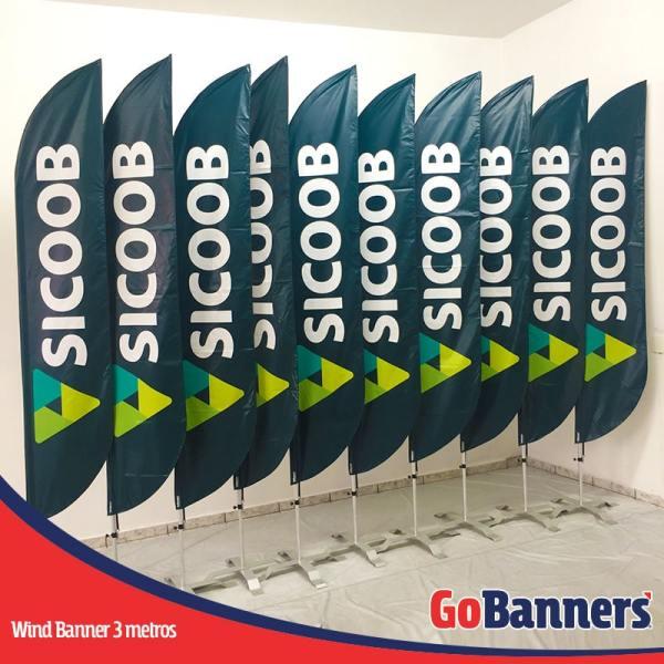 wind flag banner com 3 metros sicoob