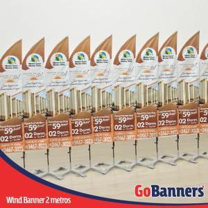 wind banner 2 metros plantão de vendas