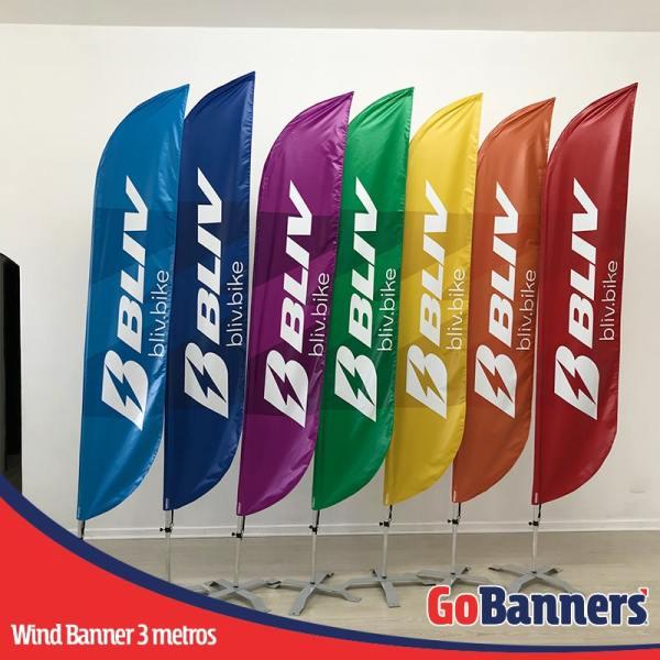 wind banner 3 metros bliv bike colorido