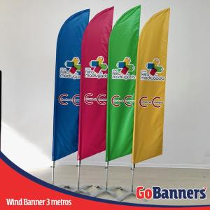 wind banner 3 metros nova feira da madrugada
