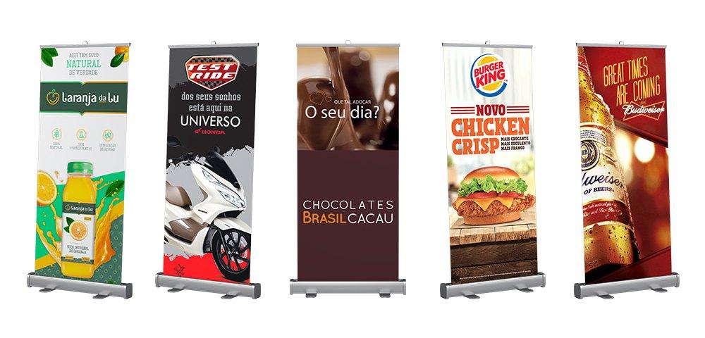 Porta Banner Roll Up como utilizá-lo em seu evento