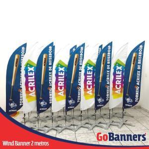 Wind Banner com 2 metros personalizado para Acrilex