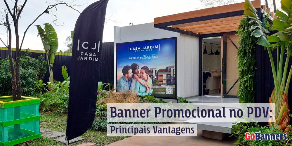 Banner promocional no PDV