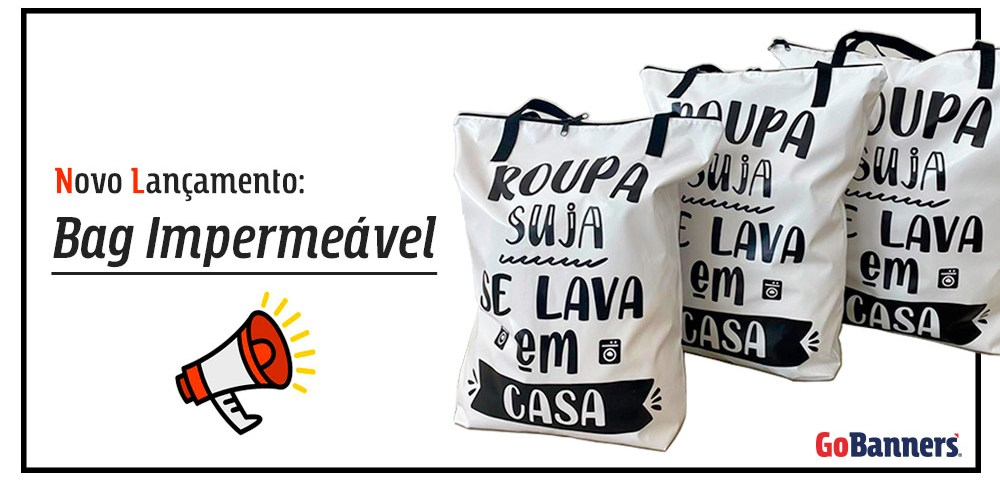 Novo lançamento Bag Impermeável