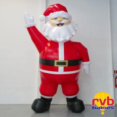 Campanha de Natal papai noel inflavel