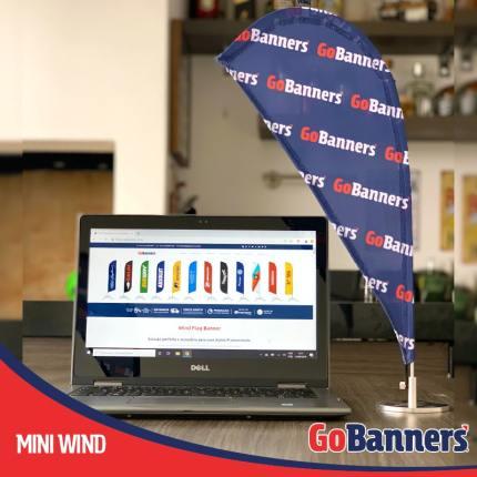 MINI WIND BANNER GO BANNERS