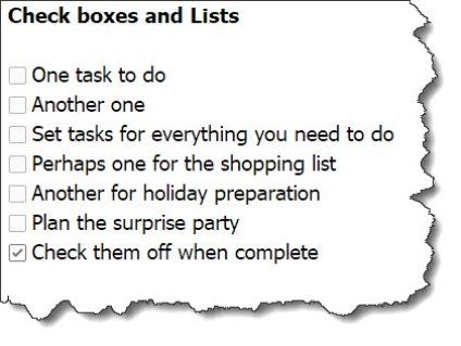 Evernote to do checkbox