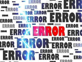 Error by Geralt CC0 Public Domain from Pixabay