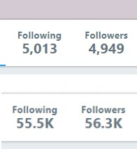 Even #follow-following count