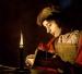 Sitio Oficial La Courona Mexicana Arte - Lectura de un joven por luz de velas (óleo sobre lienzo) por Stom, Matthias c.1600-p.1650