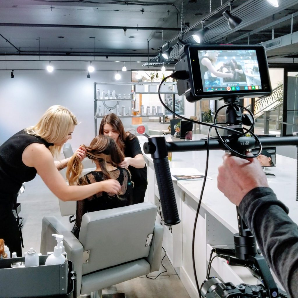 Photo shoot of hair stylists