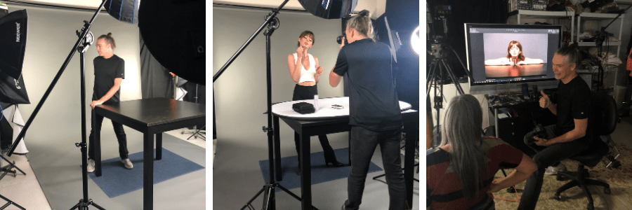 Behind the scenes at a shoot for Everra