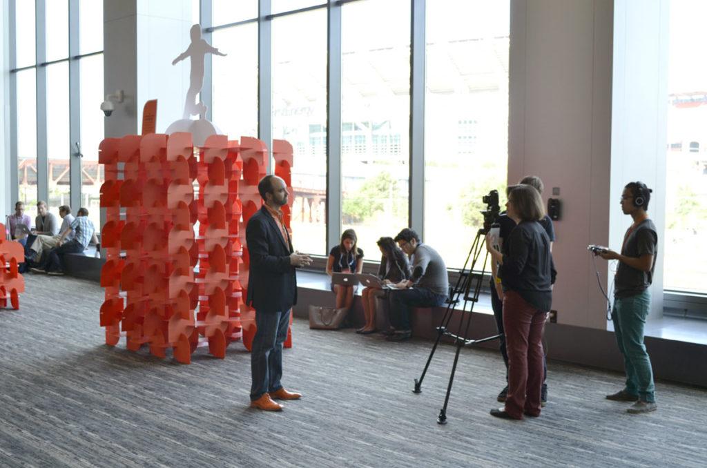content marketing world exhibit design for orange effect foundation joe pulizzi