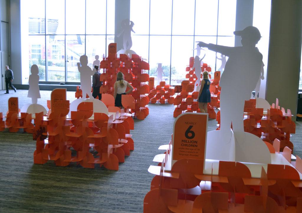 content marketing world exhibit design for orange effect foundation