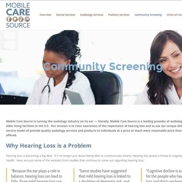 health care web site design