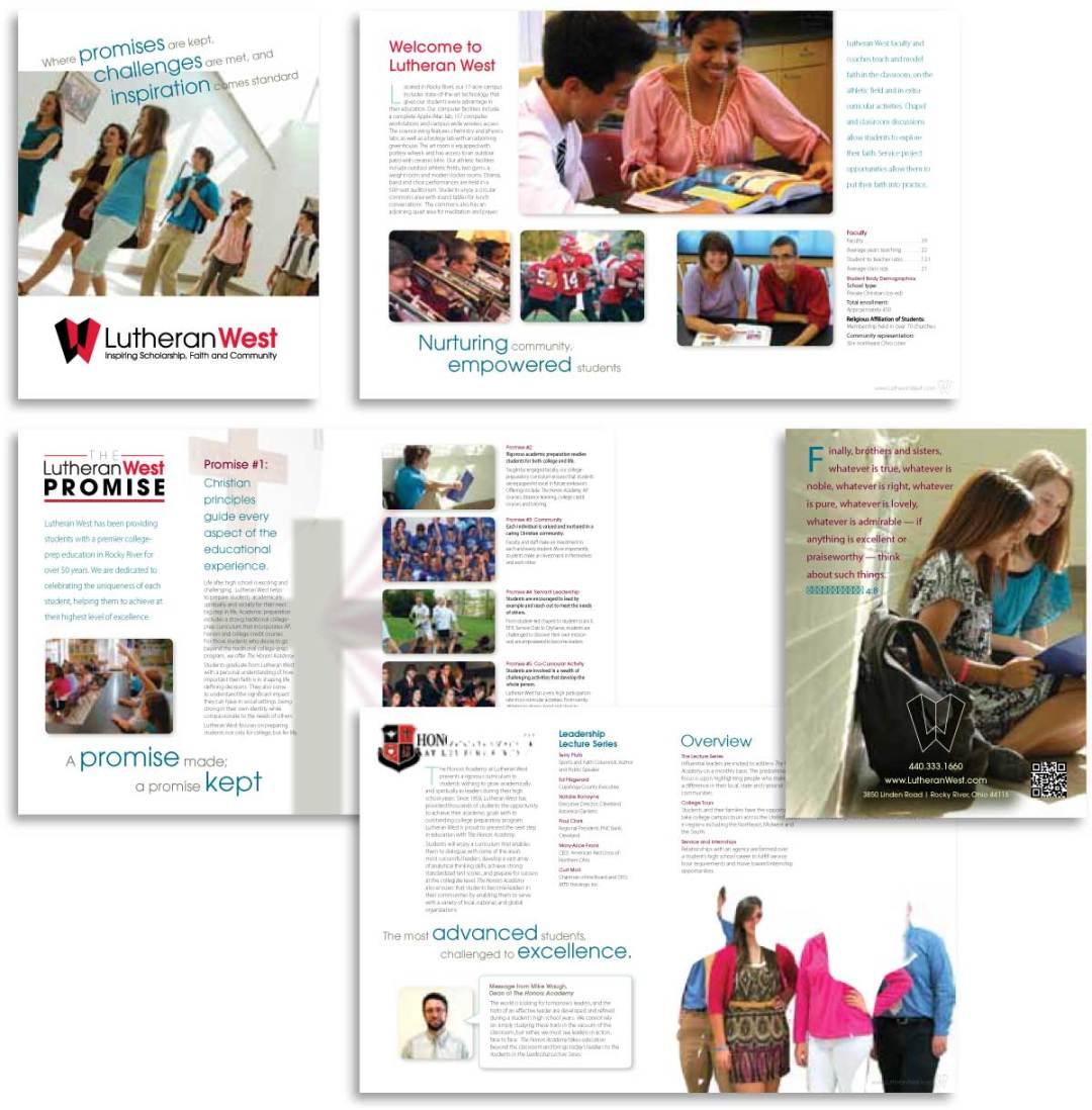 education branding - marketing brochure