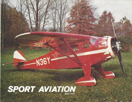 Monocoupe 110 Special N36Y on the cover of Sport Aviation