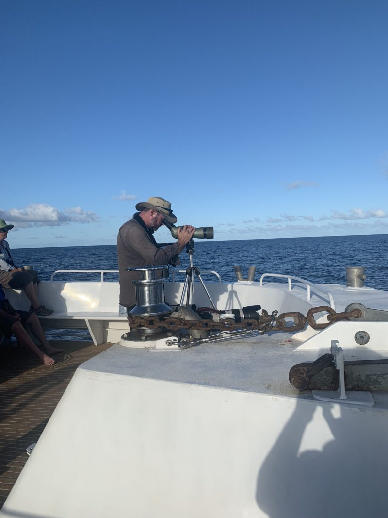 Just using a spotting scope on a boat as you do....