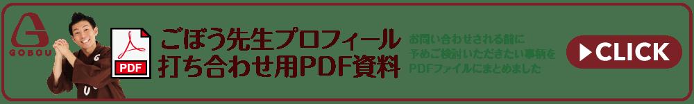 ごぼう先生プロフィール_打ち合わせ用PDF資料