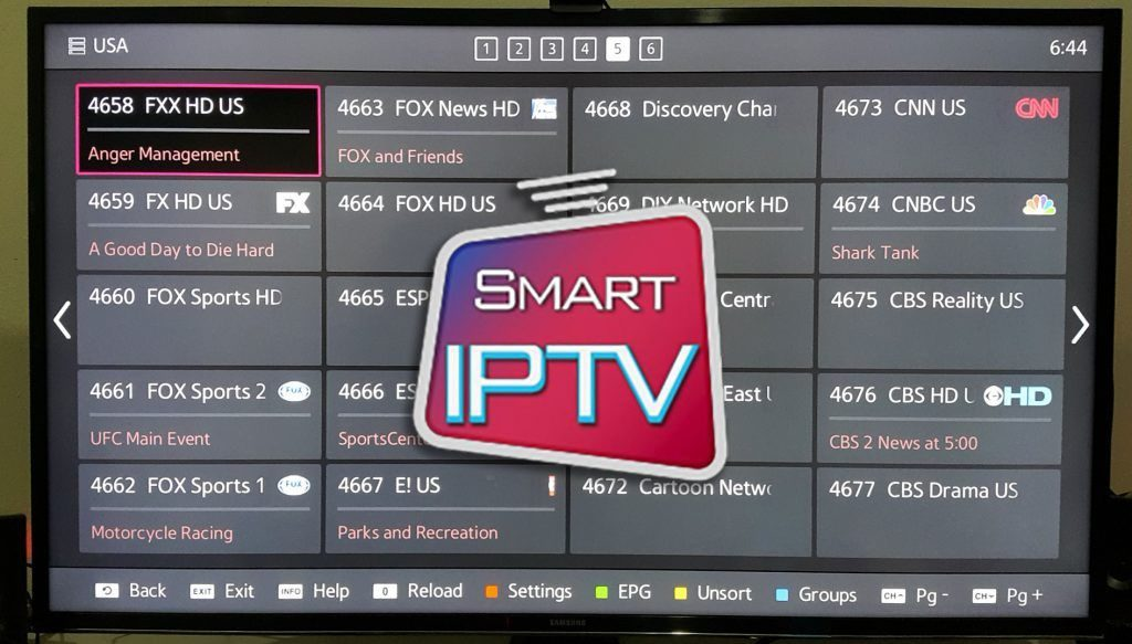 configurer smart iptv samsung