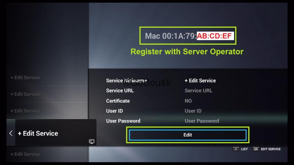 configure abonnement iptv Formuler Z